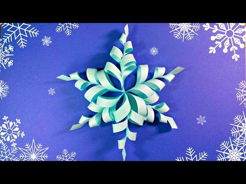 Download Modular 3d origami snowflake frozen easy star paper tutorial.christmas diy paper snowflakes HD Video