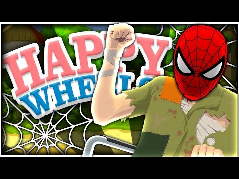 SPIDER MAN IS IN A WHEEL CHAIR?! | Happy Wheels
