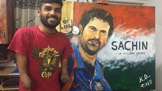 Sachin A Billion Dreams | Sachin Tendulkar speed painting by Dhaval Khatri | 2017