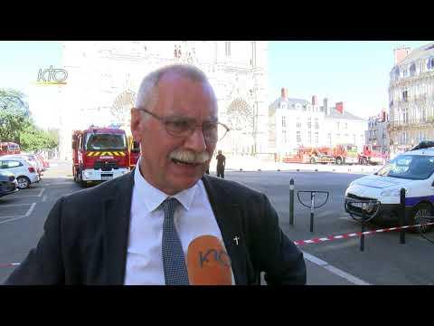 Incendie de la cathédrale de Nantes, le père Renaud déplore la perte d'un lieu de communion