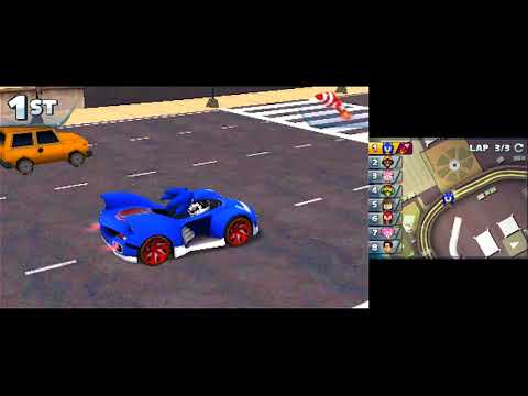 Sonic & All-Stars Racing Transformed (3DS) [GP: Classic Cup] (No Commentary)