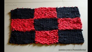 Gambar cover DIY - Door Mat from old leggings | Recycling old clothes | Step by step tutorial