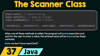 The Scanner Class in Java