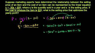 Applying Quadratic Functions 3