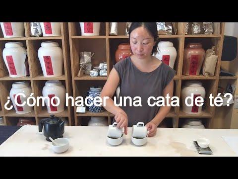 Instrucción como se utiliza set de cata para catar los tés