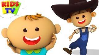 Head Shoulders Knees And Toes   Little Eddie Cartoons   Kindergarten Nursery Rhymes by Kids Tv