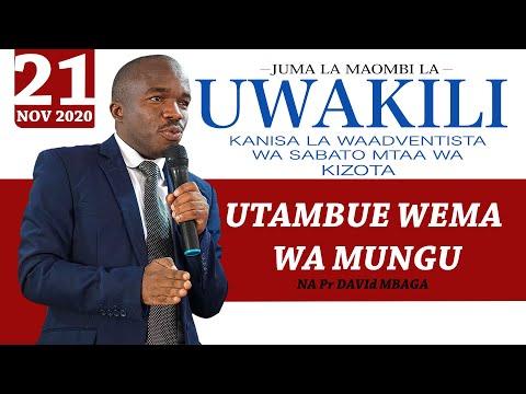 UTAMBUE WEMA WA MUNGU: Na Pr David Mbaga