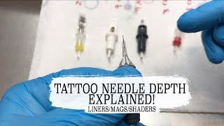 THE CORRECT NEEDLE DEPTH EXPLAINED! & THE DIFFERENCE BETWEEN BUGPIN AND NORMAL NEEDLES!