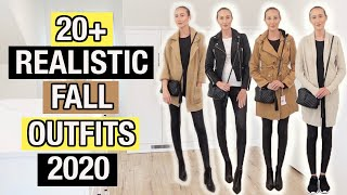 FALL CAPSULE WARDROBE 2020: 20+ Realistic Fall Outfits for Fall 2020