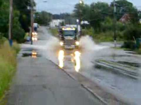 Transford Truck In Water