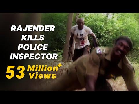 Rajender kills Police Inspector - Maayai (மாயை )  Tamil Movie Scene
