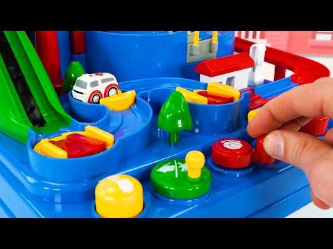 टॉडलर्स के लिए सर्वश्रेष्ठ कार टॉय लर्निंग वीडियो - प्रीस्कूल शैक्षिक खिलौना वाहन पहेली