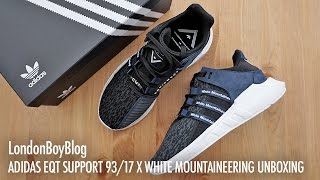 f34a9ef4089a Adidas EQT Support 9317 X White Mountaineering Unboxing - Free video ...