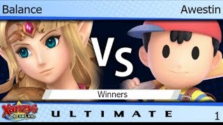 XDL 1 - Balance (Zelda) vs FX | Awestin (Ness) Winners - SSBU