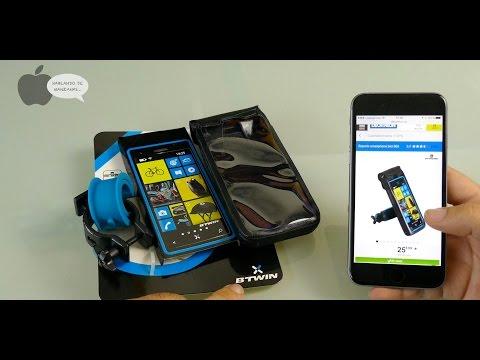 Soporte smartphone Decathlon Btwin 500 para bicicleta
