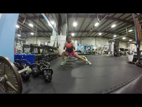 Exercise thumbnail image for Weighted Lateral Lunge + Press