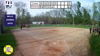 Winamac Varsity Softball vs Culver
