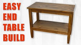 Colin Knechts Easy End Table Build / Side Table DIY