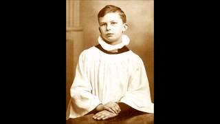 Unknown soloist of Vienna boy's Choir sings Ave Maria, Schubert