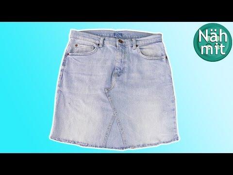 NÄHEN Jeans Upcycling | Jeansrock nähen | Rock aus alter Jeans | Nähen für Anfänger | Näh mit mir!