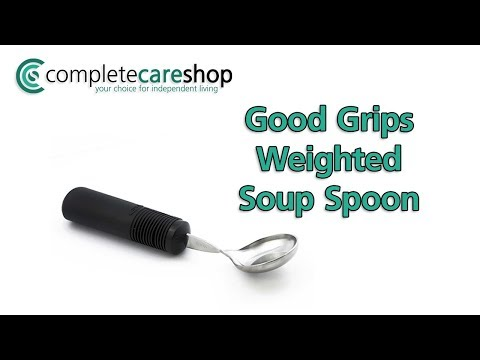 Weighted Good Grips Soup Spoon Demo