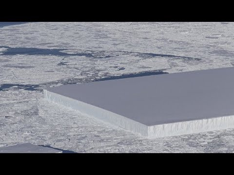 NASA finds 130-foot-tall iceberg that's nearly a perfect rectangle