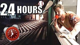 24 HOUR OVERNIGHT CHALLENGE IN BASEBALL STADIUM!