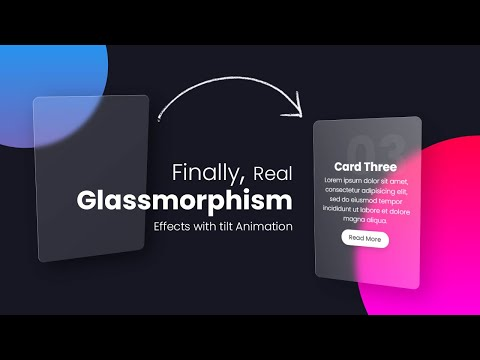 Real Glassmorphism Card Hover Effects | Html CSS Glass morphism  Effects