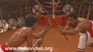 Stick fight  in Kalaripayattu