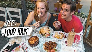 Greek Food Tour - 8 Foods You HAVE To Try In Athens, Greece! (Americans Try Greek Food)
