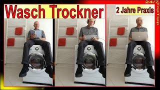 Waschtrockner ✔ 2 Jahres Praxistest - 2 in 1 [ Waschmaschine u. Wäschetrockner ] Geld + Platz sparen