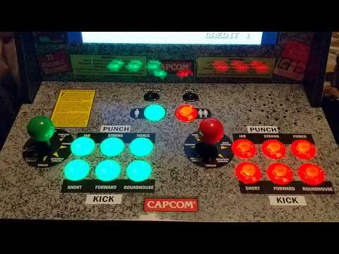 Arcade1up Street Fighter II Cabinet Modded with a Raspberry
