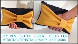 DIY Fashion Bow Clutch Bag/Como Hacer Bolso De Mano Con Tachuelas O Tachas DIY/กระเป๋าออกงาน