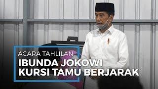 Suasana Tahlilan Ibunda Presiden Jokowi di Solo, Tamu Pakai Masker hingga Kursi Berjarak