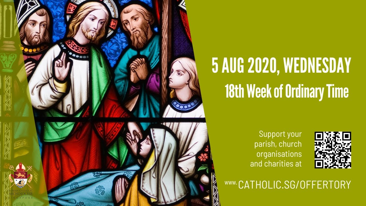 Catholic Online Daily Mass 5th August 2020 Wednesday - Live From Archdiocese of Singapore