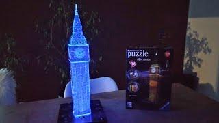 Build Ravensburger 3D Puzzle Big Ben Night Edition Timelaps Puzzle Timelaps