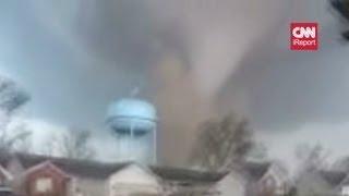 Henryville Tornado - Man films tornado hitting neighborhood