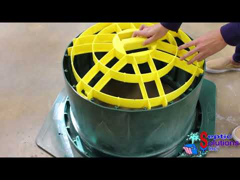 Polylok Square Septic Tank To Riser Adapter Ring Video