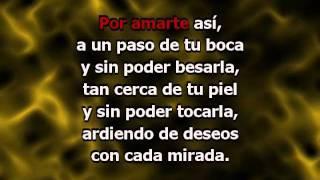 Por Amarte Así (con letra) - Cristian Castro (Karaoke)