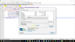 Validate XML with XSD in Notepad++