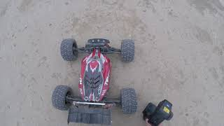 """Arrma Outcast 6s """"Sending It!!!"""" Hybrid Style, Testing New RPM Arms, With Truggified Typhon"""