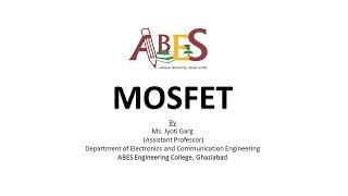 MOSFET  By Ms. Jyoti Garg [VLSI Design]