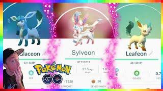 Leafeon  - (Pokémon) - HOW TO GET SYLVEON - LEAFEON & GLACEON in Pokemon Go!