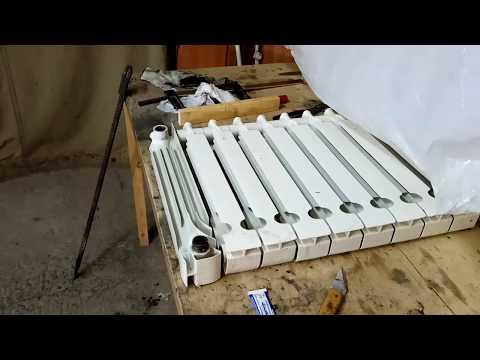 Как отремонтировать алюминиевые радиаторы отопления своими руками 2