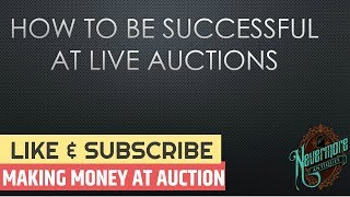 How To Be Successful At Live Auctions   Downloadable PDF