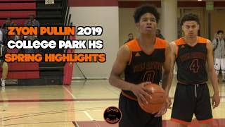 Zyon Pullin is One of Norcal's Best PG's I 2019 College Park HS I Spring Highlights