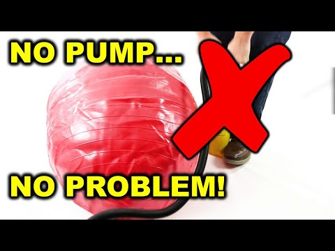 INFLATE YOUR EXERCISE BALL WITH NO PUMP