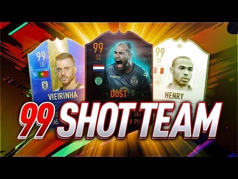 INSANE 99 SHOT SQUAD BUILDER! - FIFA 19 Ultimate Team