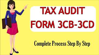 TAX AUDIT FORM 3CB-3CD LIVE DEMO AY 2020-21| COMPLETE PROCESS TO FILE FORM 3CB-3CD| TAR FORM 3CB-3CD