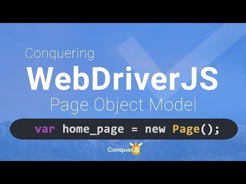 11 – WebdriverJS Page object Model
